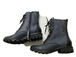 Sorel  Phoenix Boots 8.5 Navy Leather 7'' Lace Up Waterproof Boots ankle