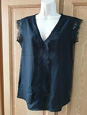 SOPHYLINE blouse S/M noir et dentelle 38