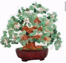 7 Inch Feng Shui Aventurine Quartz Gem Stone Money Tree Natural Green Crystal