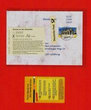 """Unterfrankierter Handy-Bf. mit ATM-Fehlverwendung 2008! Frühdatum """"Br. Tor"""" RR"""