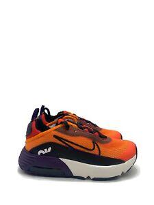 Nike Air Max 2090 (PS) Magma Orange Black Eggplant CU2093-800 Sz 2Y