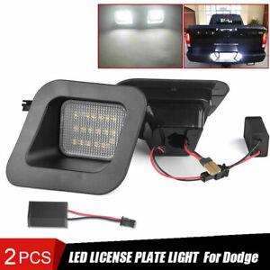 2Pcs 2003-18 Dodge Ram 1500 2500 3500 License Plate Rear Bumper Lights LED Lamps