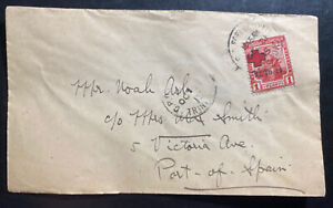 1915 Port Spain Trinidad & Tobago First Day cover FDC Domestic Sc#B2 Red Cross