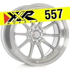 XXR 557 18x10 5-100/5-114.3 +19 Silver/Machined Wheels (Set of 4) Deep Dish