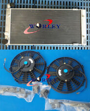 Aluminum Radiator + 2 x Fans for VW Golf 2 & Corrado VR6 Turbo Manual