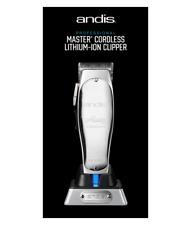 ANDIS PROFESSIONAL CORDLESS MASTER LITHIUM ION CLIPPER (UK & EU PLUGS) MLC 12480