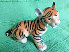 Vintage Russian porcelain tiger cub figure Lomonosov factory