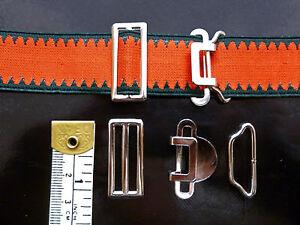 Sock Suspender,Garter,Adjusters,Clip Set, 1inch,25mm, Two