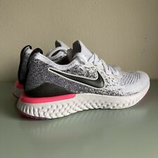 Nike Epic React Flyknit 2 Running Shoes BQ8927-103 Womens Size 7.5 White Black