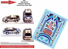 DECALS 1/43 REF 297 ALFA ROMEO GTV 6 RIGOLLET RALLYE TOUR AUTO FRANCE 1983 RALLY