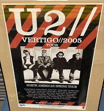 RARE U2 Vertigo Tour Dates Poster 2005 Travel operator promo 24 X 18 FREE Ship