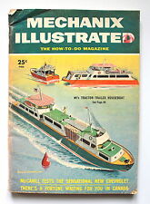 Mechanix Illustrated FEBRUARY 1955 Tractor Trailer Houseboat Fortune in Canada