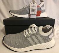 Adidas NMD R2 PK Primeknit Grey White Black UK 7 Us 7.5 Eu 40.2/3 BY9410 BNIB