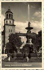 Salzburg Österreich AK ~1940 Residenzbrunnen Brunnen Glockenspiel Wasserspiel