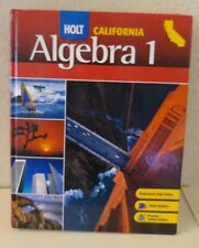 HOLT ALGEBRA 1 9th Grade 9 Math Selected Answers + PRACTICE Homeschool VERY GOOD
