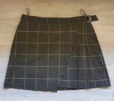 NEW Marks & Spencer Ladies Check Wool Mix Skirt Size 18 Fully Lined RRP £40