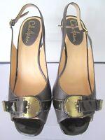Cole Haan Womans Brown Slingback Peep Toe Pumps Heels Size 8 B