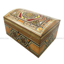 Handmade MiddleEastern Syrian Inlaid Mosaic Wooden Jewellery Gift Box 14.5x21x12