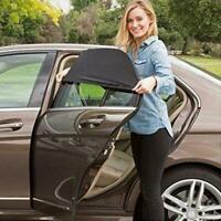 2pcs Car Rear Window UV Sun Sunshine Blocker Cover Seat Shade Mesh Blind Fast