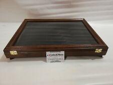 Teca vetrina espositore in legno e vetro per collezionismo monete medaglie