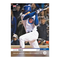Javier Baez 2019 Topps Now #256 Pinch-Hit Walk-Off Single Chicago Cubs