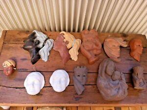 Konvolut Wandmasken | u.a. Cortendorf, Goebel, Karlsruher Majolika, Roos