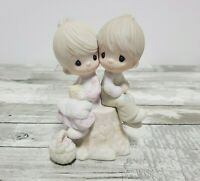Precious Moments Figurine Love One Another E-1376 Jonathan & David 1976 Fish