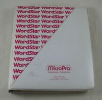 WordStar MicroPro 1981 Binder Manual Floppy v2.1/3.0 Word processing