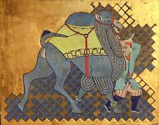 Large Orientalist Art Deco Period Mosaic on Panel, 'Man with Camel' c. 1930
