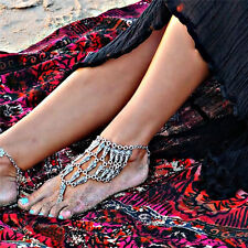 Lady Vintage Barefoot Beach Sandal Boho Jewlery Hot Ankle Chain Anklet Foot