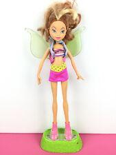 Winx Club Mattel Doll Flora Flutter Magic / Poupée