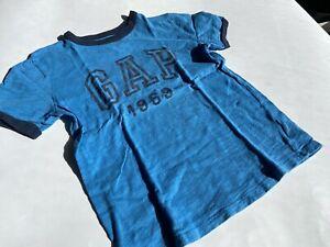 GAP Kids Tolles blaues Logo T-Shirt Gr.M (8) 128