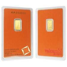 1 gram Gold Bar - Valcambi Suisse - 999.9 Fine in Sealed Assay