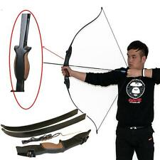 "56"" 25lbs 2-Arrow Rest Takedown Recurve Bow Left Right Hand Shooting Game Target"