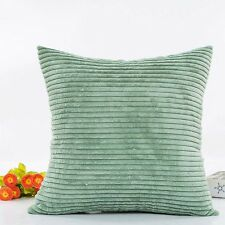 Corn Strip Velvet Corduroy Plush Plain Throw Pillow Case Cushion Cover Home Sofa