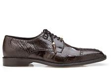 Belvedere Mens Shoes Batta Chocolate Genioun Ostrich 14006