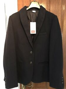 **BNWT** Ladies Cotton Traders Dark Navy Wool Mix Blazer - Size 10/12 RRP £58