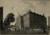 Amsterdam Holland Nederland city view Royal Palace c.1810 Portman aquatint print