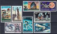 ASCENSION 1971 SPACE  Decimal Currency - Evolution of Space Travel - MNH set