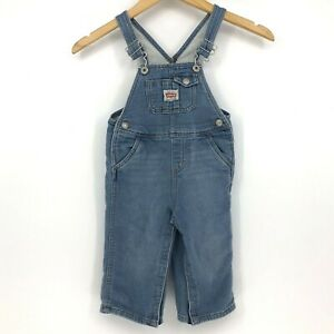 Children Levi's 2T 24 Months Denim Bib Overalls Blue Toddler Snap Up Legs Soft