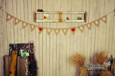 Best Day Ever Hessian Rustic Bunting Red Heart Burlap Banner Wedding Photo Flag