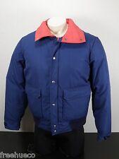 Vtg EASTERN MOUNTAIN SPORTS Down Fill Puffer Jacket -Dark Blue/Dark Pink -Large