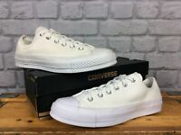 CONVERSE UNISEX UK 8 EU 41.5 ALL STAR CANVAS WHITE TRAINERS MENS LADIES J