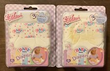 New Rare Baby Born Diapers 2 Packs (Set of 6) For 13� Doll Zapf Creation Nip