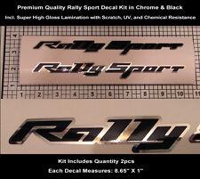 RS SS Rally Sport Decal Kit 2pcs Camaro Super Sport Chrome Hood Scoop 0116