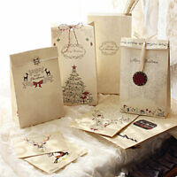 PT_ LK _ EG _ 8 pezzi cartone festa di Natale Biscotti Regalo Borsa LUSSO MATR