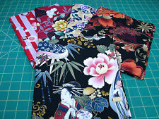 5 Yards Quilt Cotton Fabric - Fabric Pack Floral Flowers Lot - Asian F1