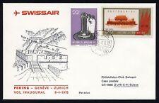 CHINA 1961 - Communist  # 906 on First fligh Cover ( Shanghai -Geneve- Zurich )