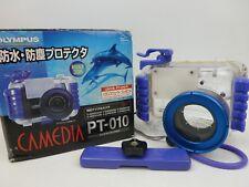 CARCASA de cámara subacuática Olympus Camedia PT-010 ** ** P & P libre de Reino Unido