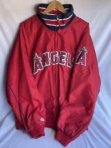 Los Angeles Angels Majestic Zipper Jacket - Men's Size 3XL